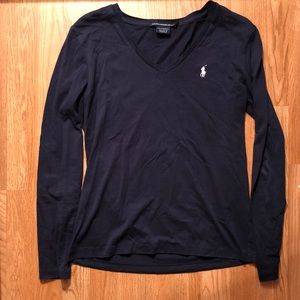 Ralph Lauren Navy Long Sleeve Shirt